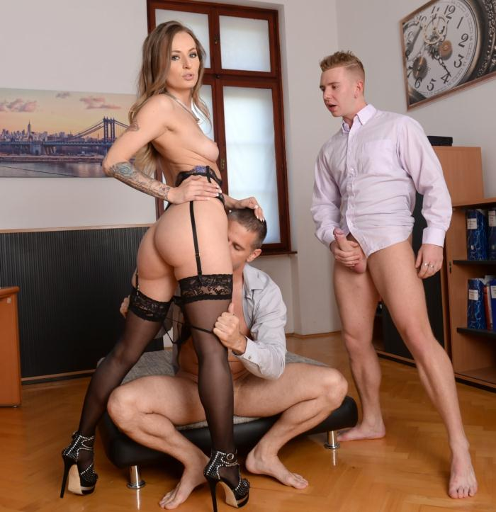 DP Porn - Natasha Starr - He Walked In  [FullHD 1080p]