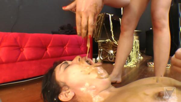 Scat Swallow Deep Throat - The Egypt Story - Extreme LezDom (FullHD 1080p)