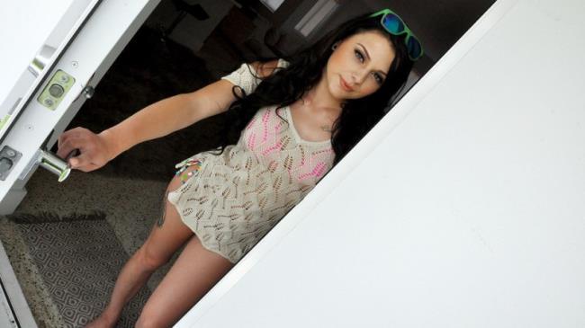 Patrol Porn: Megan Sage - Cute Brunette Fucks Pervy Plumber (SD/2016)