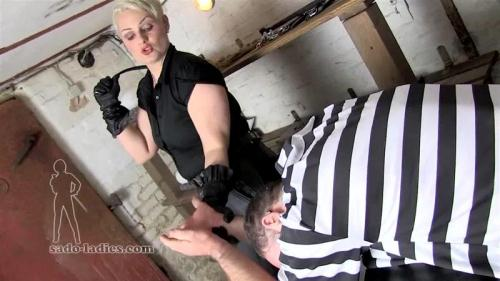 Sado-Ladies.com [Blonde Mistress - Morning Spank!] HD, 720p