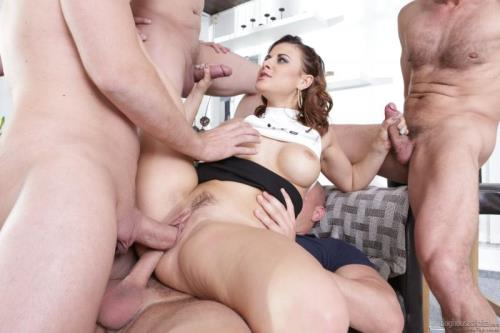 DogHouseDigital.com [Billie Star - Hard Gangbang] SD, 400p