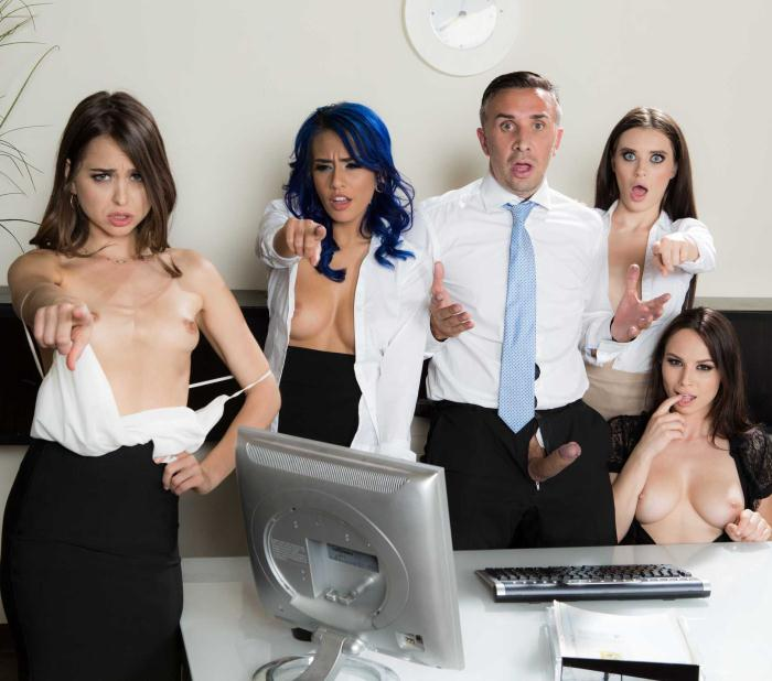 BEX - Riley Reid, Janice Griffith, Aidra Fox, Lana Rhoades - Office 4-Play: Intern Edition  [HD 720p]
