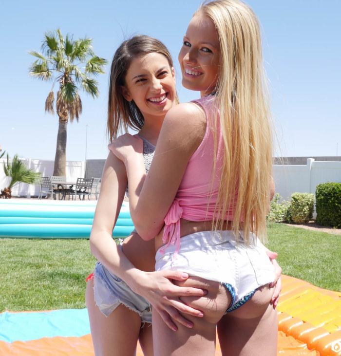 Lubed.com - Scarlett Sage, Kristen Scott - Slip And Slide Threesome  [SD 450p]