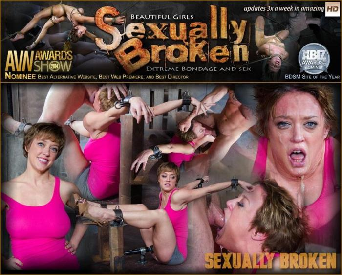 SexuallyBroken.com - Dee Williams Shows Off Amazing Cock Sucking Skills in Bondage and is Vibrated to Multiple Orgasms! (BDSM) [HD, 720p]