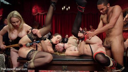 Th3Upp3rFl00r [Aiden Starr, Lilith Luxe, Mona Wales, Bella Rossi, Kira Noir - A Slave Orgy Like No Other] SD, 540p