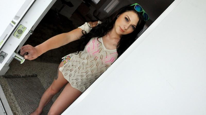 Megan Sage (Cute Brunette Fucks Pervy Plumber / 16.08.16) [Mofos / SD]