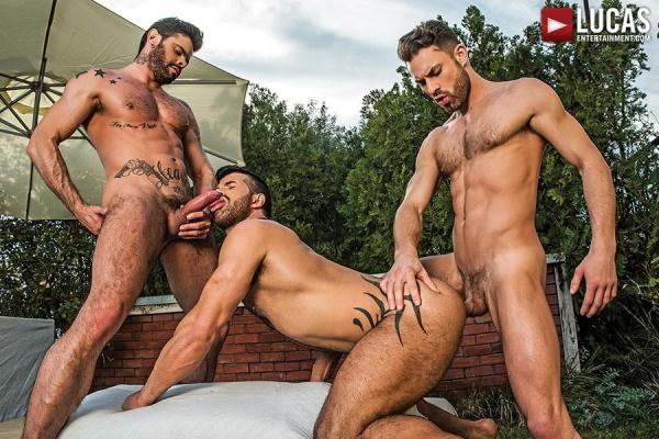 Raw Threesome - Greece My Hole Raw, scene 3 - LucasEntertainment.com (HD, 720p) [Gay, Anal, Bareback, Group, Flip-Flop, Blowjob, Rimming, Tattoos, Ass to Mouth, Outdoors, Facial, Uncut, Cumshot]