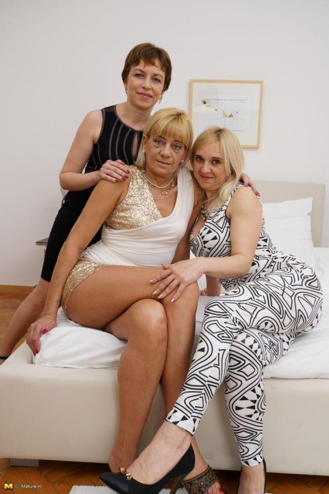 Mature.nl: Nicola S. (40), Alma (40), Karine C. (49) - 3 mature lesbians sharing their pussies (HD/2016)