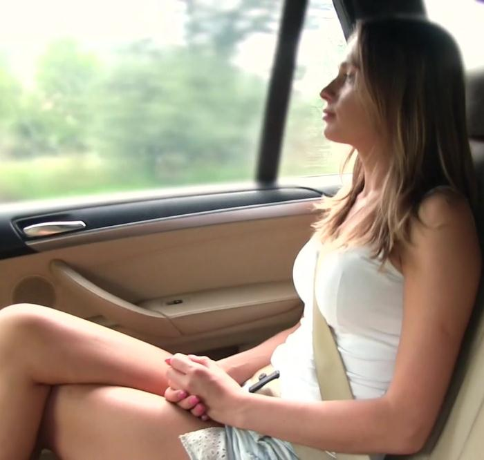 Sex in Taxi - Ivana Sugar - Hot Blonde in Tight Denim Shorts  [HD 720p]