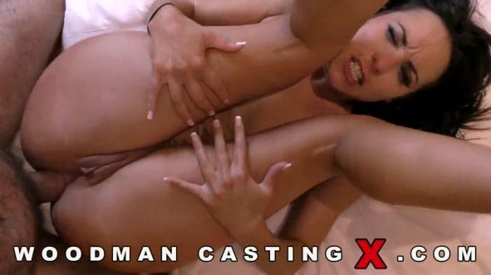 W00dm4nC4st1ngX.com - Ines Lenvin - Updated - Anal sex with Brunette on Casting (Amateur) [SD, 480p]