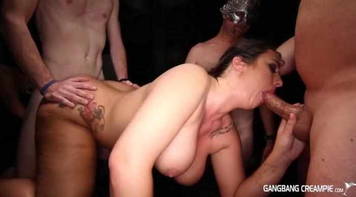 GangbangCreampie.com - Hailey - Gangbang Creampie 67 (Group sex) [SD, 400p]
