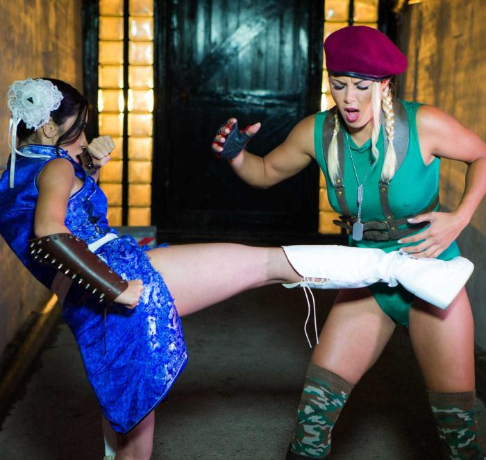 HAM - Christen Courtney, Rina Ellis - Sex Fighter: Chun Li vs. Cammy (XXX Parody)  [HD 720p]