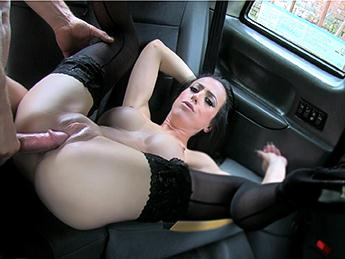 Skyler Mckay (Lady With Big Tits Black Stockings / 18.08.16) [FakeTaxi / SD]