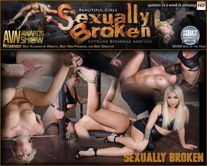 SexuallyBroken.com: Super Hot Madelyn Monroe Tied With Legs Spread Wide and Tag Teamed By Couple! [HD] (526 MB)