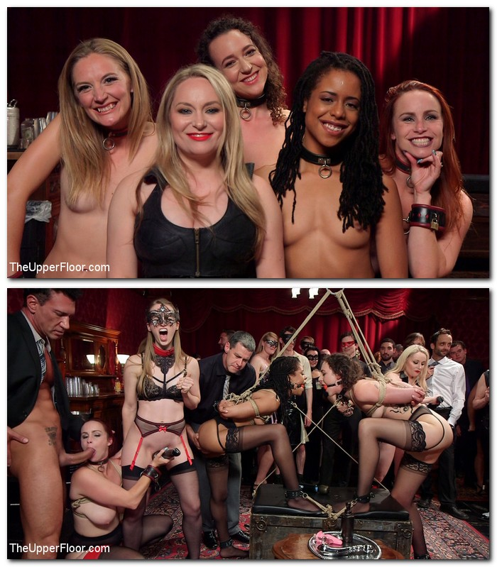 TheupperFloor.com/Kink.com - Aiden Starr, Lilith Luxe, Mona Wales, Bella Rossi, Kira Noir - A Slave Orgy Like No Other  [SD 540p]