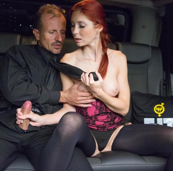 FuckedInTraffic.com - George Uhl, Kattie Gold - Czech redhead Kattie Gold gets fucked wildly on the backseat of a car [HD 720p]