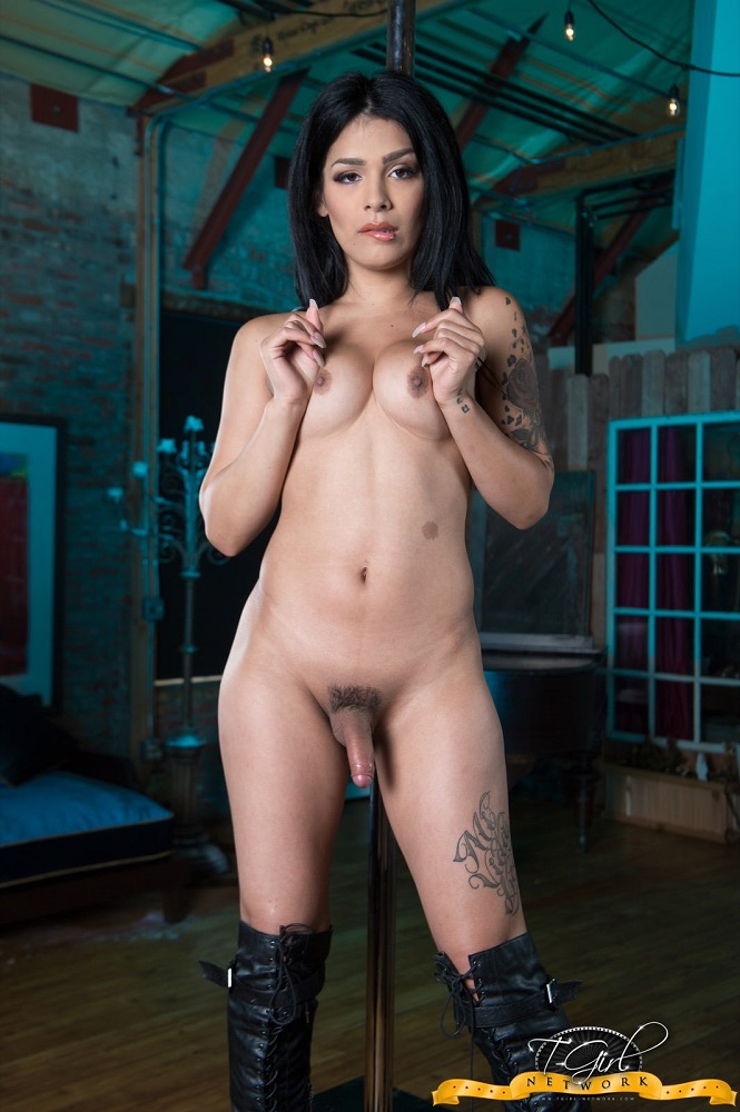 Aubrey Starr - Strokes Her Beautiful Cock [HD 720p] Tgirl-network.com