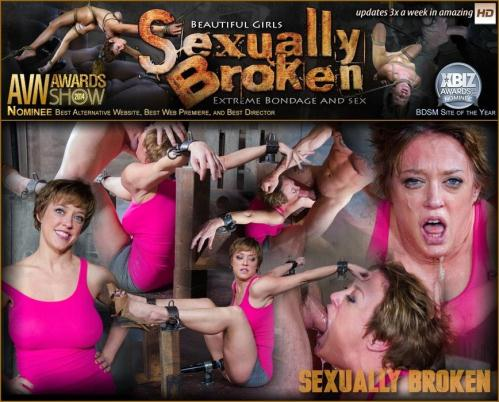 SexuallyBroken.com [Dee Williams Shows Off Amazing Cock Sucking Skills in Bondage and is Vibrated to Multiple Orgasms!] HD, 720p