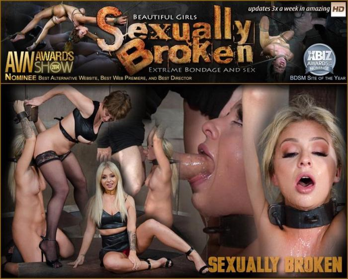 SexuallyBroken.com - Unbelievably Hot Madelyn Monroe Bound To Sybian and Used By Couple! (BDSM) [HD, 720p]