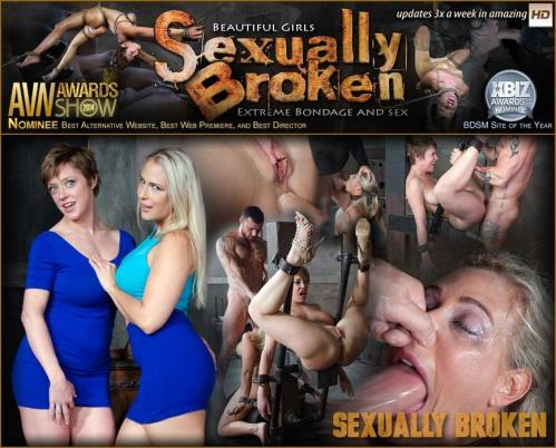 SexuallyBroken.com [Angel and Dee Tied Back to Back And For Mouth and Anal Use] SD, 540p
