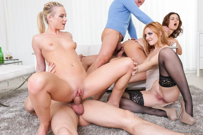 DoghouseDigital.com: Billie Star, Vinna Reed, Eva Berger - Swinger sex [SD] (338 MB)