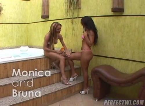Spring Break - Monica Mattos & Bruna - Planet Giselle (Shemale) [SD, 528p]