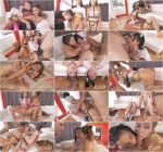 Gina Valentina, Melissa Moore - Break The Internet (Group sex) [SD, 480p]