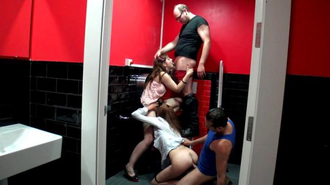 French Exclusive: Julie - Orgie dans les toilettes d'un bistrot ! (FullHD/2016)