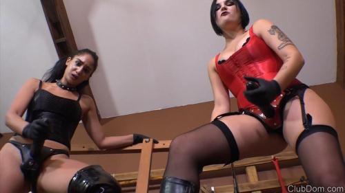 Mistresses Sasha & Elena Sin - POV [HD, 720p] - Femdom