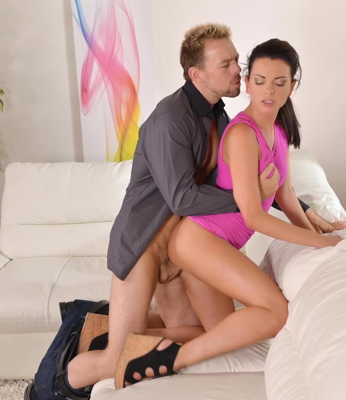 Hands Hardcore - Monika Benz - Time For Two - Stunning New Face Loves Cum On Belly   [HD 720p]