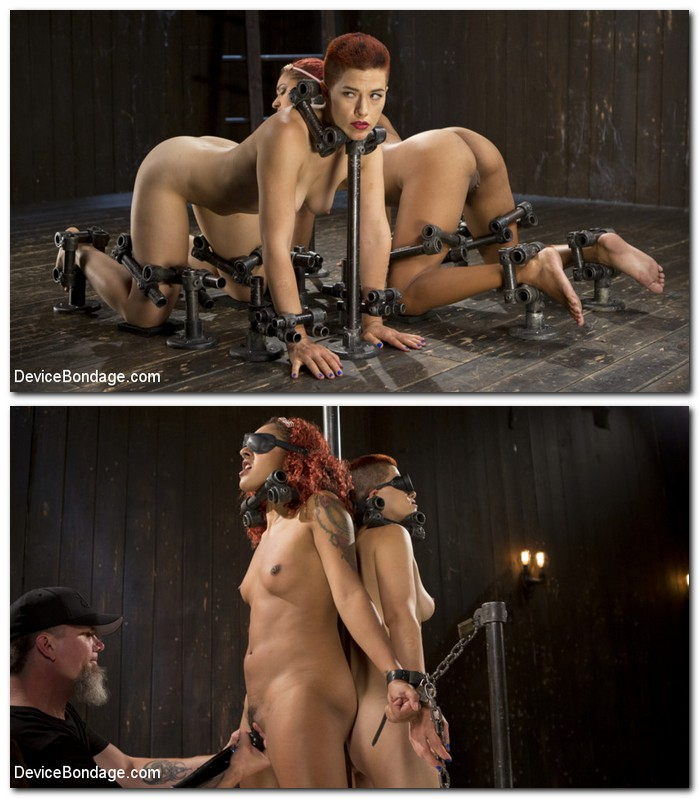 DeviceBondage/Kink: Ingrid Mouth, Daisy Ducati - The Pope - Two Sluts Suffer in Grueling Bondage with Squirting Orgasms  [SD 540p]  (BDSM)