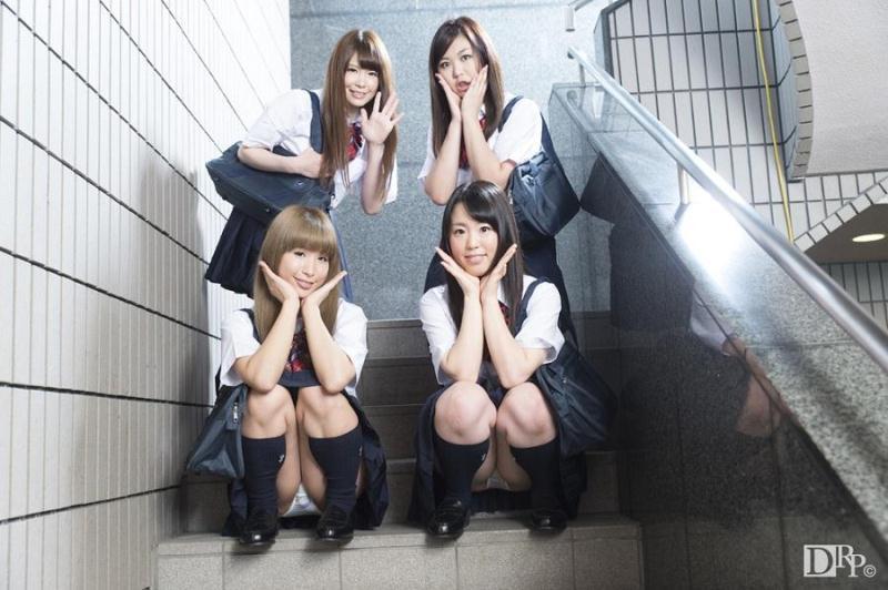 Yuka Uehara, Hana Saki, Natsukawa Meg, Hotsuki Natsume - Group Sex With A School Girls [uncen] [10Musume / SD]