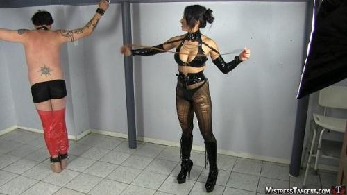 Tangent Spanking her Tied Slave [HD, 720p] [MistressTangent.com] - Femdom