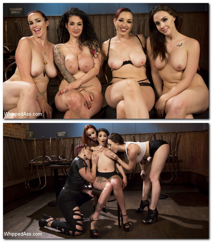 WhippedAss/Kink: Chanel Preston, Bella Rossi, Mistress Kara, Arabelle Raphael - Dyke Bar 4: Wet T-shirt Contest!  [SD 540p]  (Femdom)