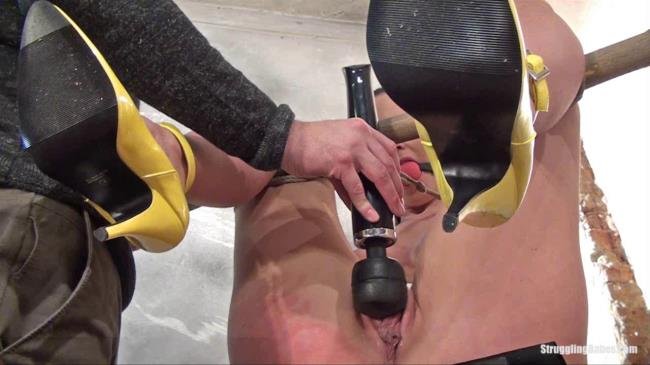 Sadistic Room: Cindy - Cindy bound gagged nipples clamped and forced machine fucked (HD/2016)