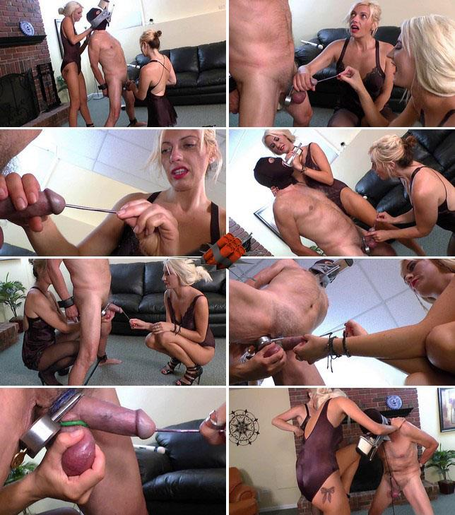 Extreme Insertion - Amateur - Pain for balls and cock of slave P.1 [HD 720p]