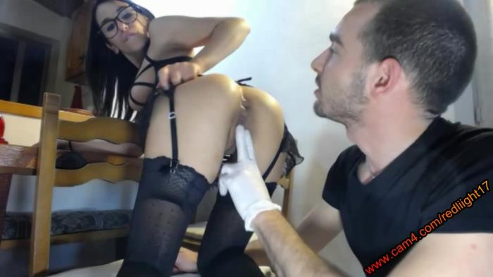 Extreme Insertion - Amateur - Glasses slut gets huge anal inserts [HD 720p]