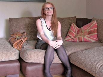 F4k3Hub.com - Ella Hughes - Unexpected Creampie for Sexy Redhead (Casting) [SD, 480p]
