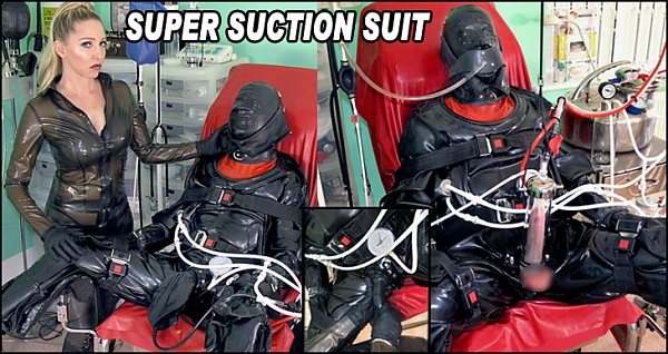 Female Domination: Mistress Sidonia - Super Suction Suit Part 2 (HD/2016)