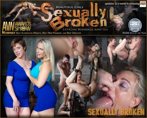 SexuallyBroken.com [Angel and Dee Tied Back to Back And For Mouth and Anal Use] HD, 720p