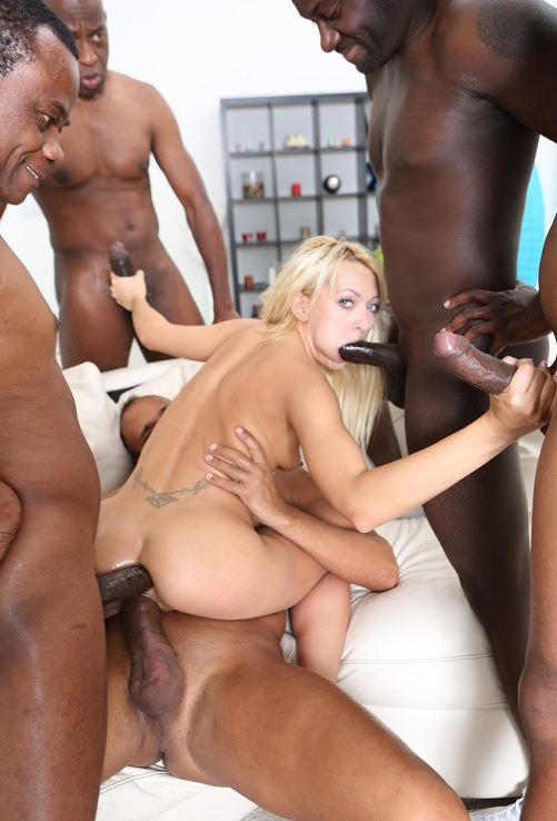 LegalPorno.com - Lola Shine - Black Busters 5on1 Lola Shine interracial DP /DAP /GAPES /FACIAL Skinny one gets BBC gangbang GIO225 [HD 720p]