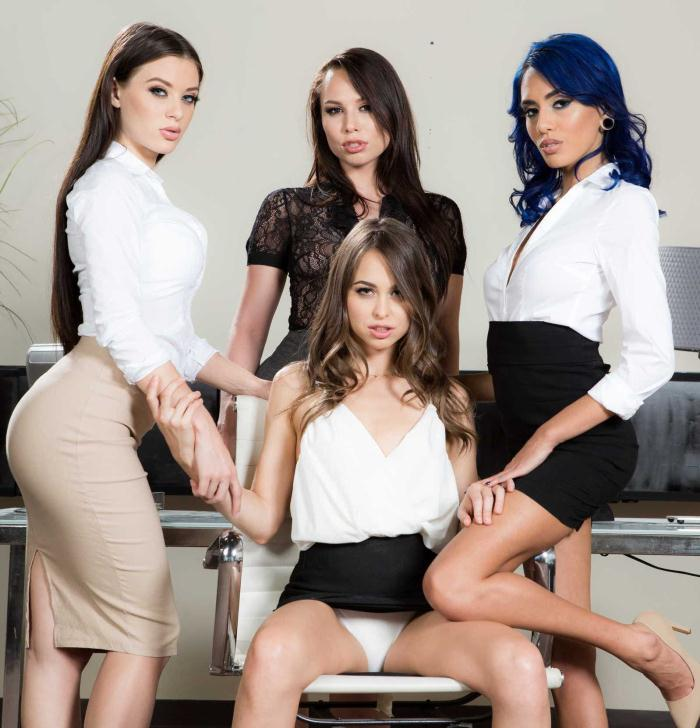 BEX - Riley Reid, Janice Griffith, Aidra Fox, Lana Rhoades - Office 4-Play: Intern Edition  [SD 480p]