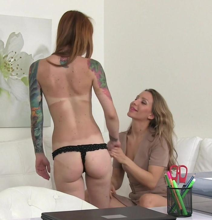 Female Casting - Foxy Sanie, Nessy - Tattooed Emo Licks Agent to Orgasm  [FullHD 1080p]