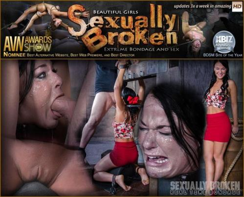 SexuallyBroken.com [London River, Matt Williams, Sergeant Miles  - London River Bound Over Sybian and Face Fucked, Having Brutal Orgasms That Test Her Restraints!] SD, 540p