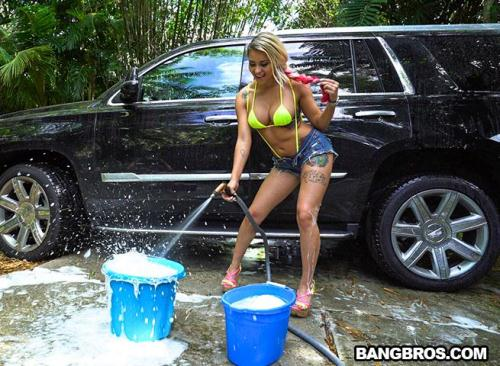 [Backyard Carwash with Marsha May] SD, 480p