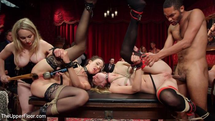 Th3Upp3rFl00r - Aiden Starr, Lilith Luxe, Mona Wales, Bella Rossi, Kira Noir - A Slave Orgy Like No Other (BDSM) [SD, 540p]