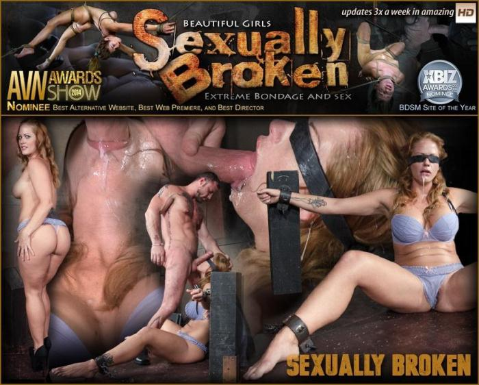 SexuallyBroken.com - Gorgeous Holly Heart Bound and Blindfolded in Sexy Lingerie Face Fucked While Cumming! (BDSM) [HD, 720p]
