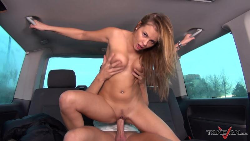 (Sex in car / MP4) Candy - The Russian Fuckstress TakeVan.com - SD 400p