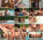 Laura Orsolya aka Laura M. & Anastasia Lux - Big Boobs Sunshine - Wet Milfs Suck Their Massive Titties (20.09.2016) [DDFNetwork / SD]