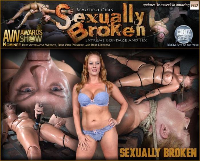 SexuallyBroken.com - Holly Heart Strapped to Bed Frame in Vicious Bondage and Brutally Face Fucked! (BDSM) [HD, 720p]